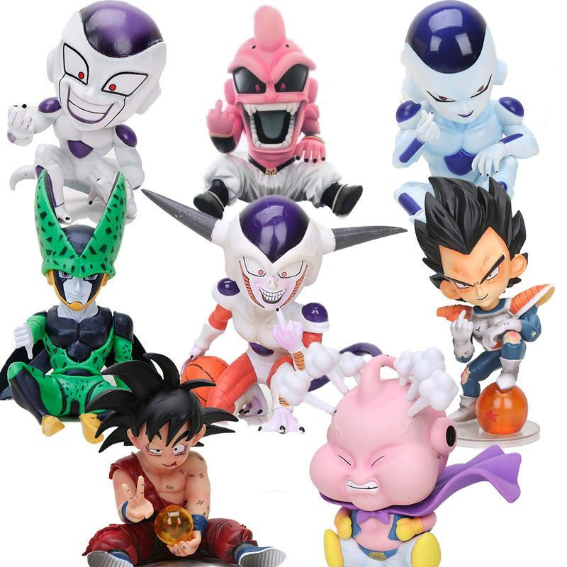 hot Dragon Ball Z Fighter Majin Buu Boo Kid evil Buu anime Freeza frieza Vegeta Ohzaru Dragonball Broly Broli Action Figure toy Y191105