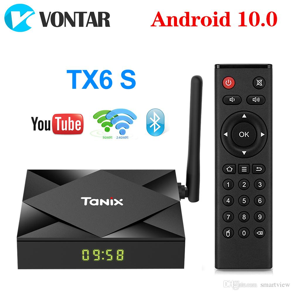 Tanix TX6S Android 10.0 TV Box Allwinner H616 Quad Core 4GB 32GB Smart Streaming Media Player 5G WiFi Bluetooth Set Top Box