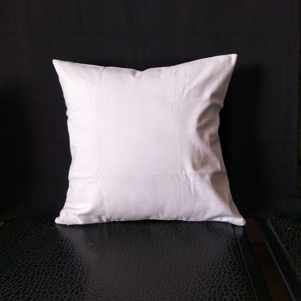 Fabrika düşük fiyat doğrudan DIY boya / baskı için 100pcs / lot Herhangi Boyut boş beyaz / doğal / yarı beyaz 8oz saf pamuklu kanvas yastık kılıfı