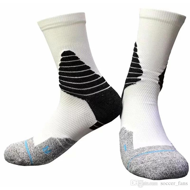 2019 Mens Elite Basketball Socks Outdoor Sports Athletic Comfortable Sport Socks Men Cycling Racing Towel Bottom Adult socks