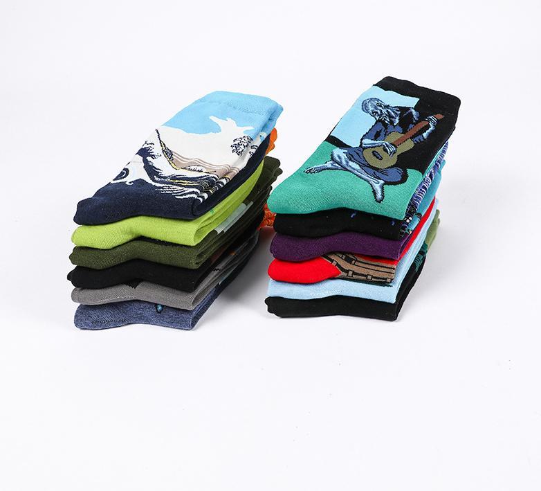 Мода мужские дизайнерские носки с Printed 2020 новых женщин высокого качества Спорт Носки Streetwear Mens нижнее белье