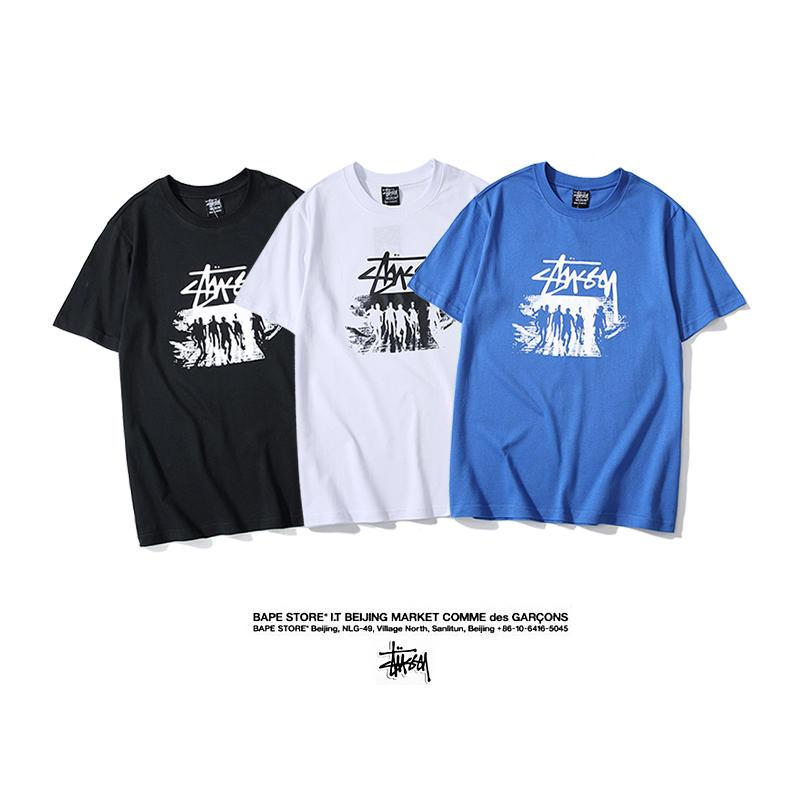 Fashion Mens Summer Character Printed Loose Tops Short Sleeve Blouse T-Shirt Tee
