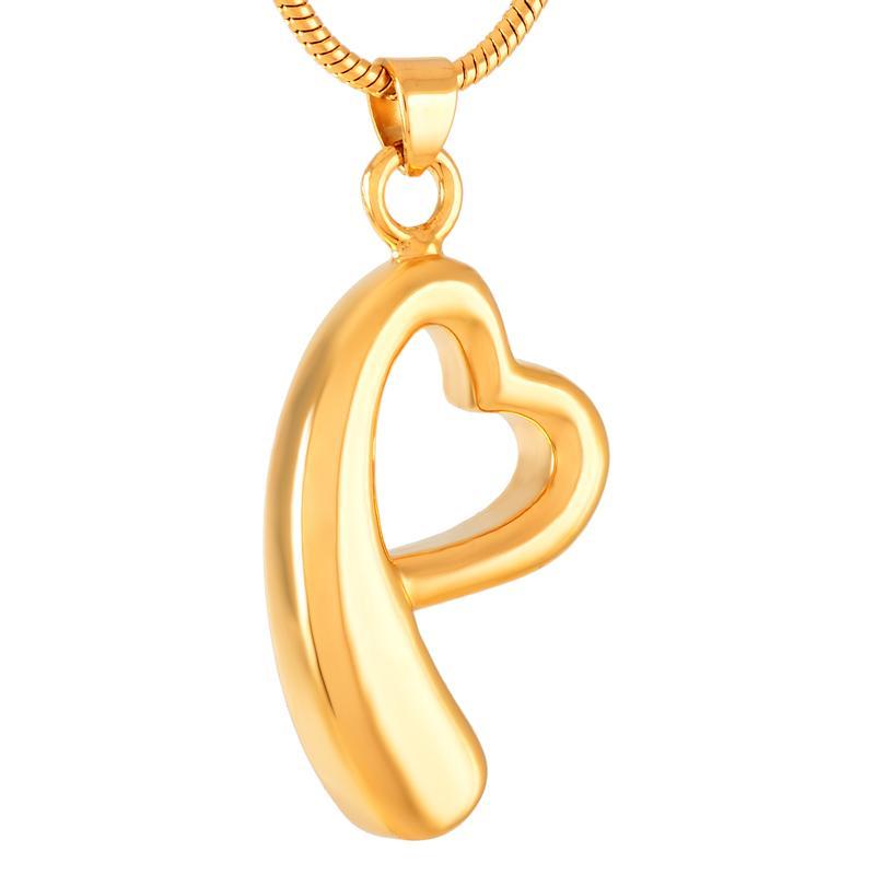 Gioielli Collana Memorial h8522 Gold Fashion figura del nastro di seta del cuore cremazione Urna ciondolo in acciaio Donne Keepsake Ashes