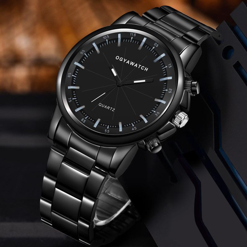 Uhr-Mann-Edelstahl-Quarz-Uhr-Männer Mode-Geschäfts-Uhren der beiläufigen Sport-Uhren Mann Uhr relogio masculino