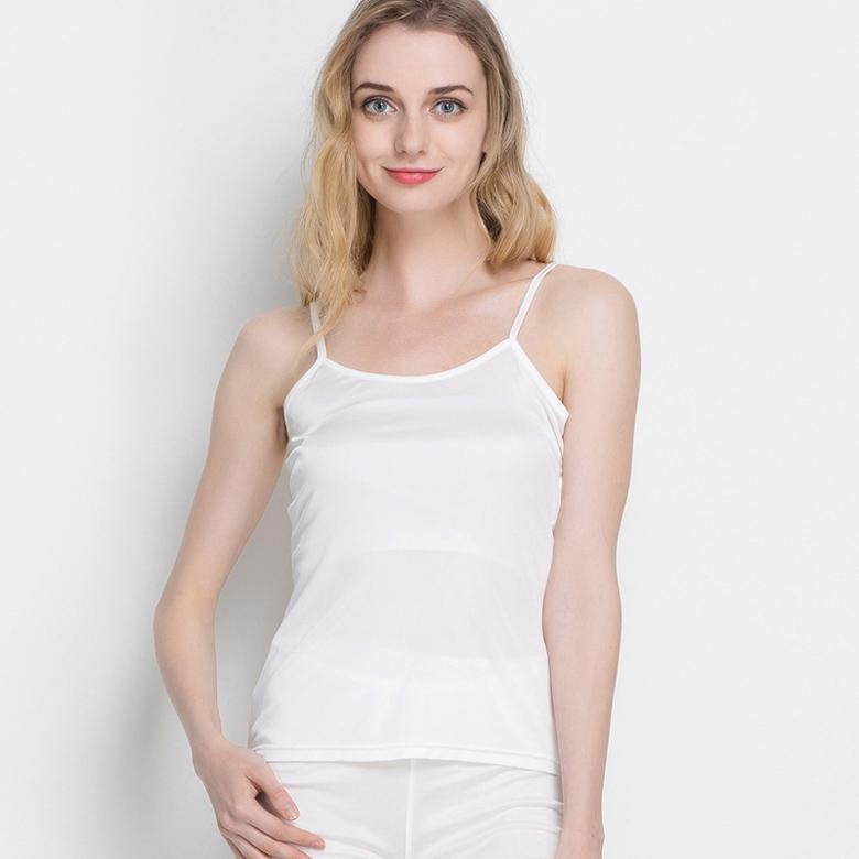 Women Silk Camis Natural Silk Basic Camisoles Comfortable Silk Tank Tops Summer Halter Top Black White Nude Breathable