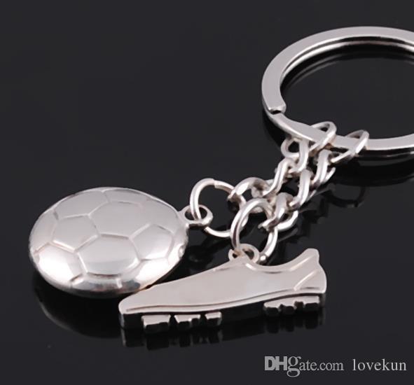 패션 축구 금속 키 체인 남자 선물 열쇠 고리 축구 신발 및 축구 자동차 열쇠 고리 선물 파티 열쇠 고리 쥬얼리