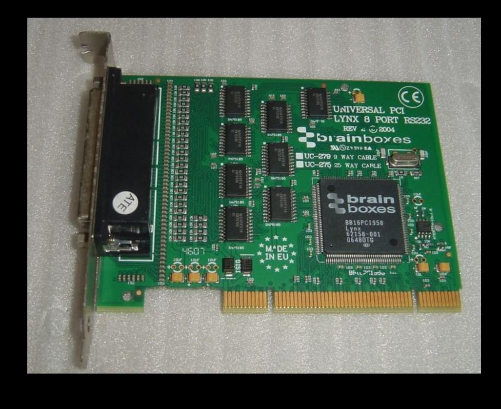 100% Probado obra perfecta para PCI Universal de Brainboxes LYNX 8 puerto RS232 UC-275 / 279B