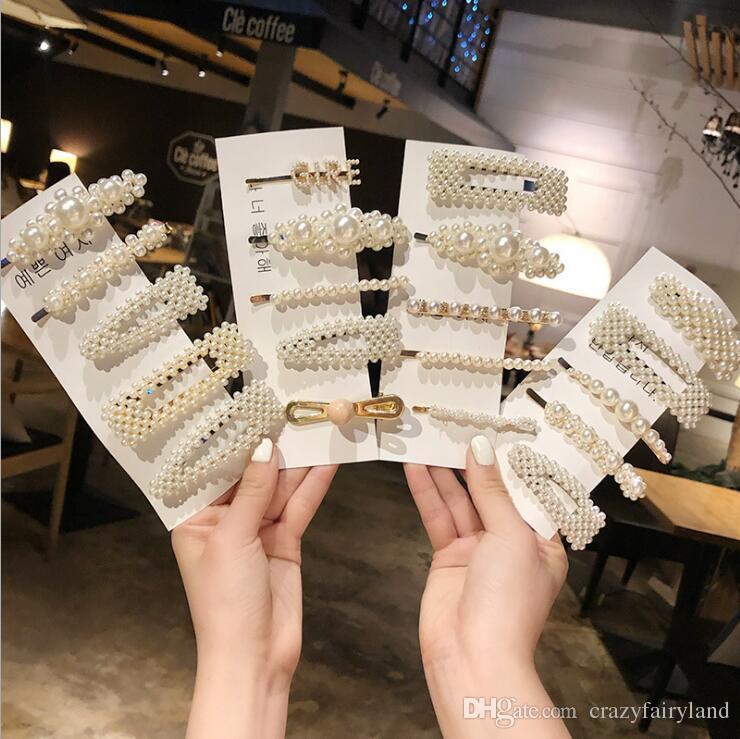 Girls Princess Hair Accessories Fashion Pearl Hair Clip for Women Elegant Korean Design Snap Barrette Stick Hairpin Hair Styling Accessories