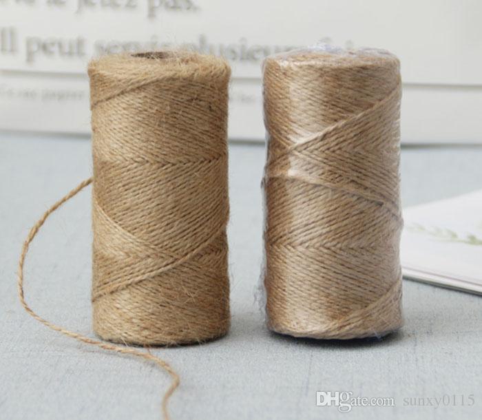 1 لفة 100 متر الخيش الطبيعية هسه الجوت الخيش البرمة سلسلة حبل ريفي التفاف هدية التعبئة الحبال موضوع الزفاف ديكور