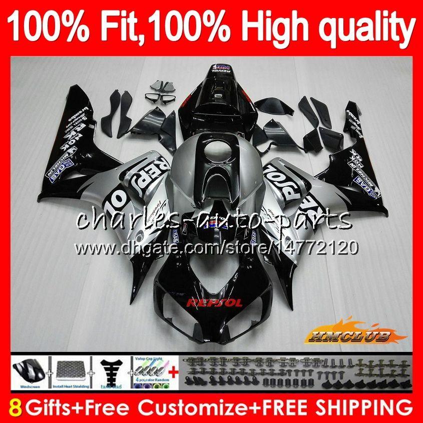 Injection OEM For HONDA CBR 1000CC 1000 RR 06 07 Body Repsol silver 78HC.15 CBR1000 RR CBR 1000RR CBR1000RR 06 07 2006 2007 100%Fit Fairing