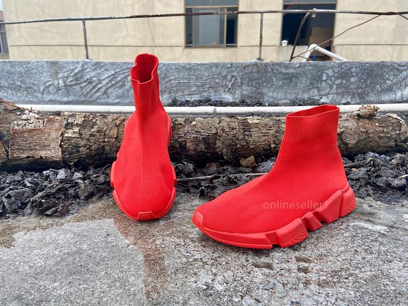 Alta Baixa Sock Sapatos Designer Luxo Mens Mulheres Triplo Preto Vermelho Branco Cinza Casual Shoes baratos Nova