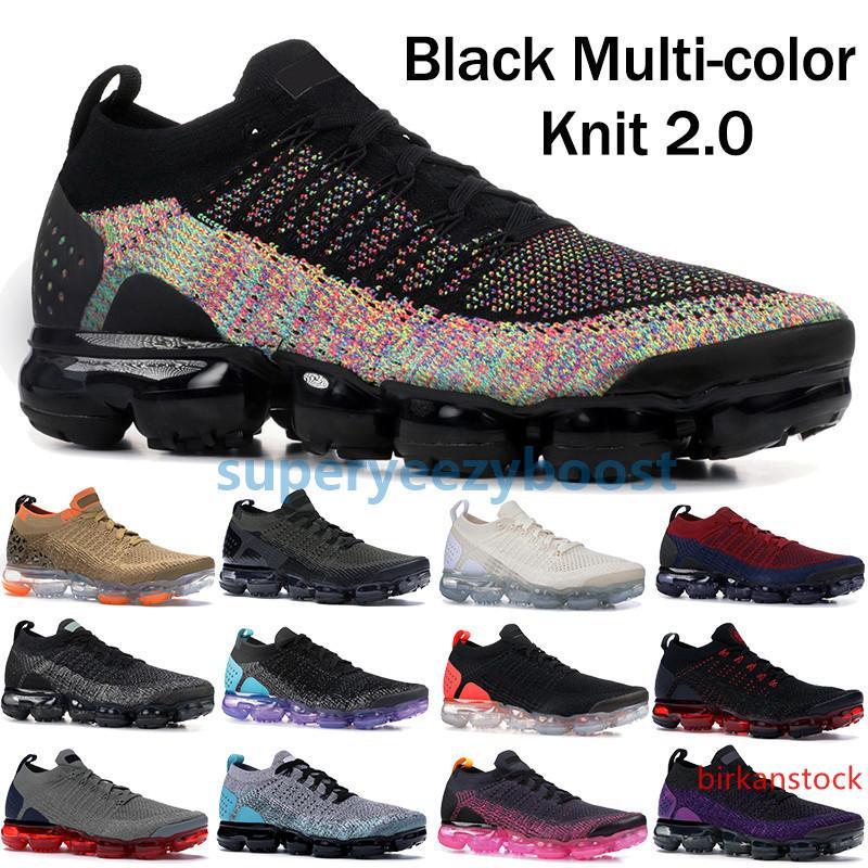 2019 Multi Fly 2.0 Negro funcionamiento del color de los zapatos para mujer para hombre CNY Safari corredor azul zapatillas de deporte de diseño medianoche entrenadores ultramarinos púrpura