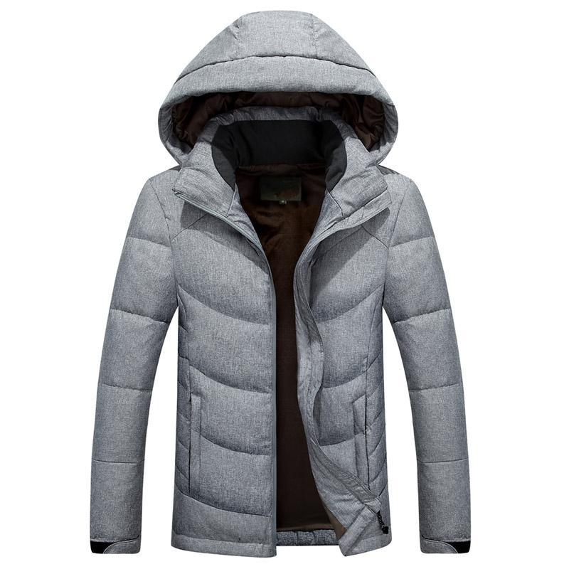 Klassische Marken-Mann-Winter Outdoor weiße Ente Daunenjacke mit Kapuze Mann lässige Daunenmantel Oberbekleidung Mens warmer Jacken Parka M-3XL