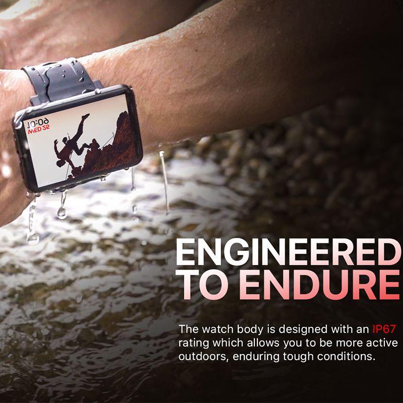 بلوتوث الروبوت الساعات الذكية 4G Smartwatch الهاتف 32GB ROM 5MP كاميرا واي فاي لتحديد المواقع معدل ضربات القلب مشاهدة بلوتوث دعم التطبيق تحميل