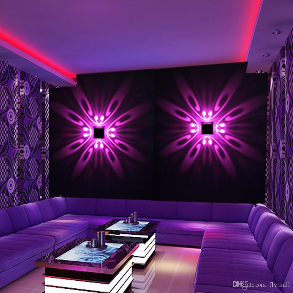 Настенный светодиодный настенный светильник крытый светодиодные проекции красочные световые панно светильник фон стены свет для дома отель KTV бар