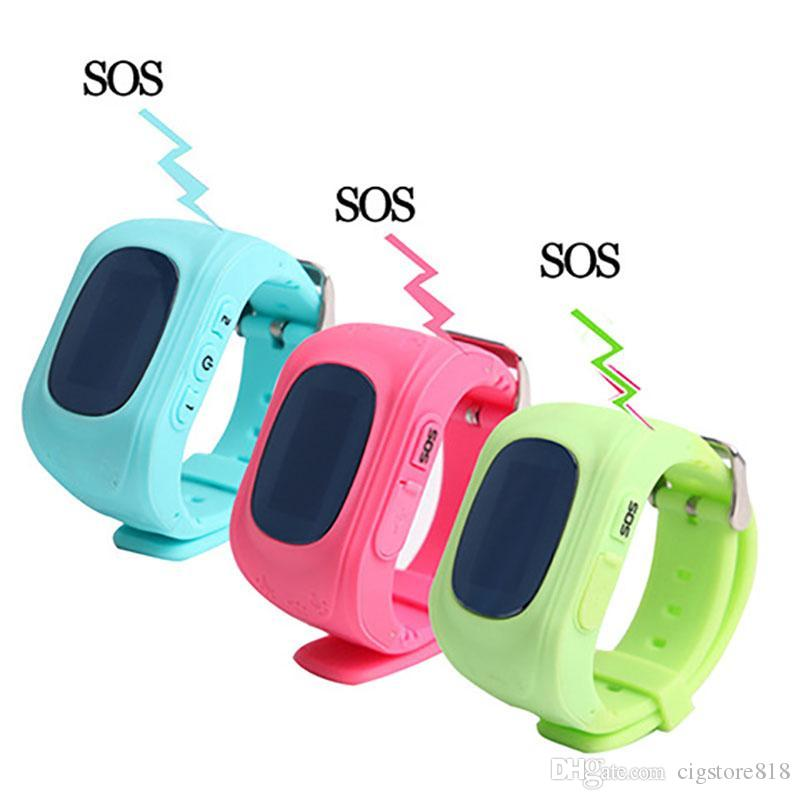 Q50 Kids GPS Tracker Children Smart Phone Watch SIM Quad Band GSM Safe SOS Call For Android IOS Smart Watch Sim Card
