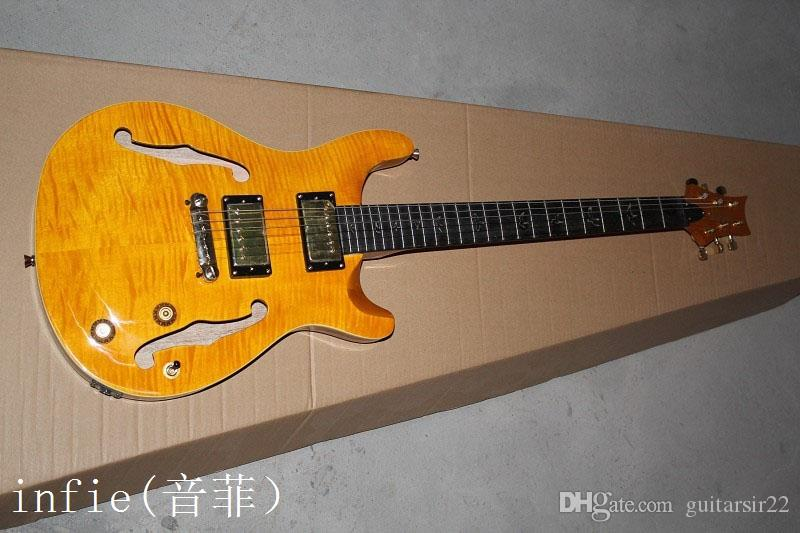 2020 neue Ankunft + free shipping + Factory Custom Shop Slash halb hohle elektrische Gitarre des Jazz Unterschrift Slash Gitarre!