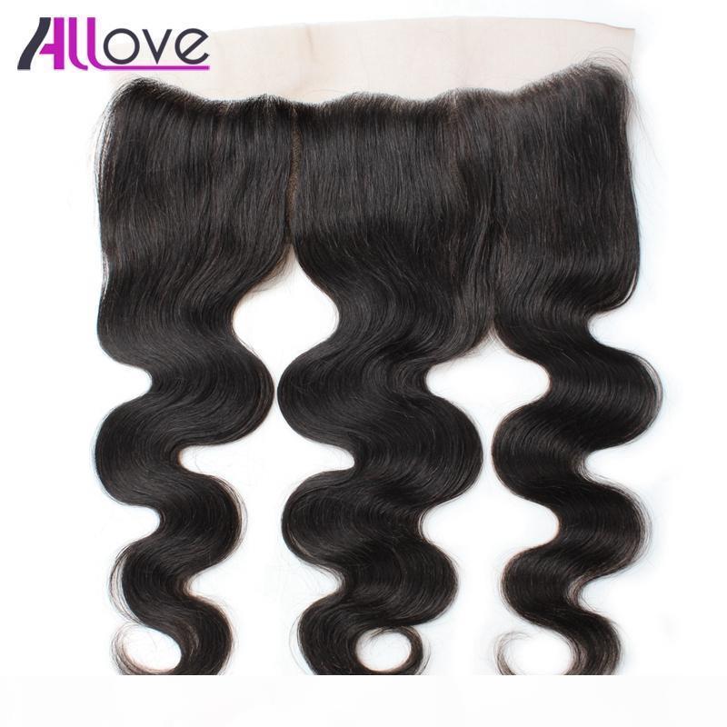 Allove 10А бразильский объемной волны человеческих волос уха до уха кружева фронтальная расширения Малайзии кружева фронтальная перуанский волосы фронтальной Индийский Девы волос