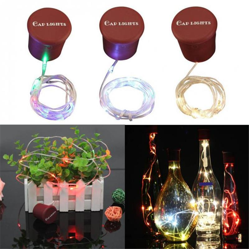 1M 10LED Bottle Stopper Lamp Creative Silicone Cap Fairy Light 3 Mode Romantic Copper Wire String Atmosphere Lamp for Home Bar Party