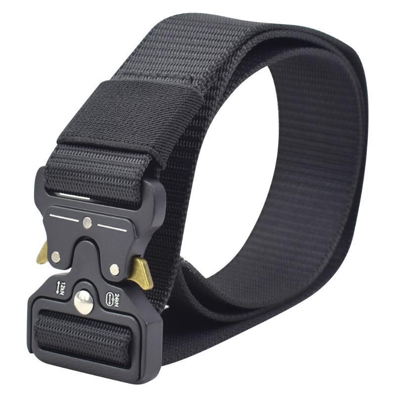 Acção União Cinto Táctico Nylon Fivela Ajustável De Metal Cinto Cintura Rápida Libertação Exército Pesado Homens De Treino De Caça