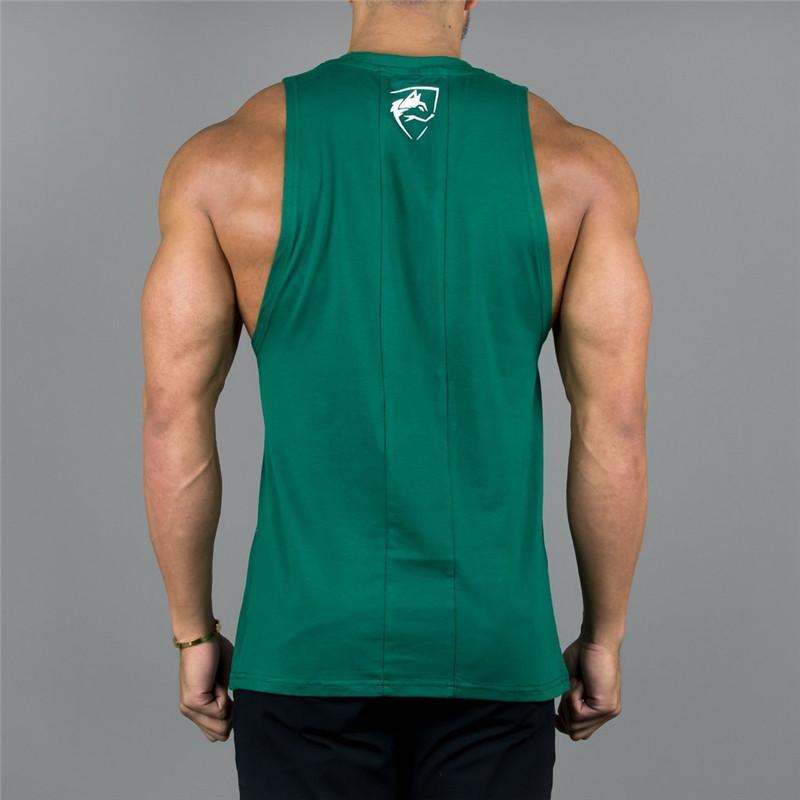 Erkek Tank Top Alphalete Spor Salonları Spor Vücut Geliştirme Egzersiz Crossfit Marka Giyim Pamuk Kolsuz Gömlek Jogging Yapan Baskı Slin Q190522