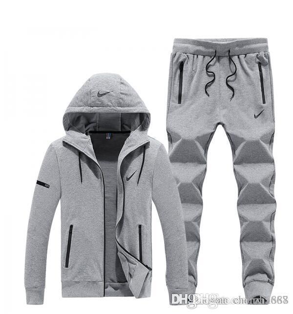 new style 76a68 a3bd3 NIKE 2019 men s full zip tracksuit men sport suit men sweatshirt and pant  suit hoodie and pant set sweatsuit men