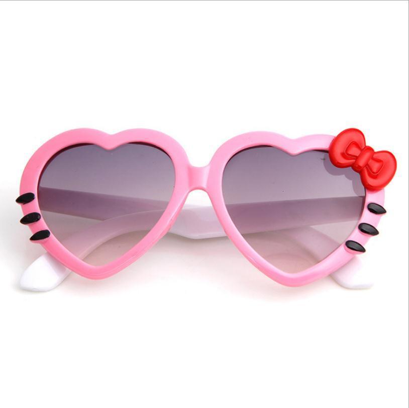 Bella piegatura a forma di cuore a forma di occhiali da sole bowknot occhiali da estate occhiali da estate per bambini bambini occhiali da sole ombreggiature ombreggiature ombrelloni parasole per bambini ragazzi MGAW