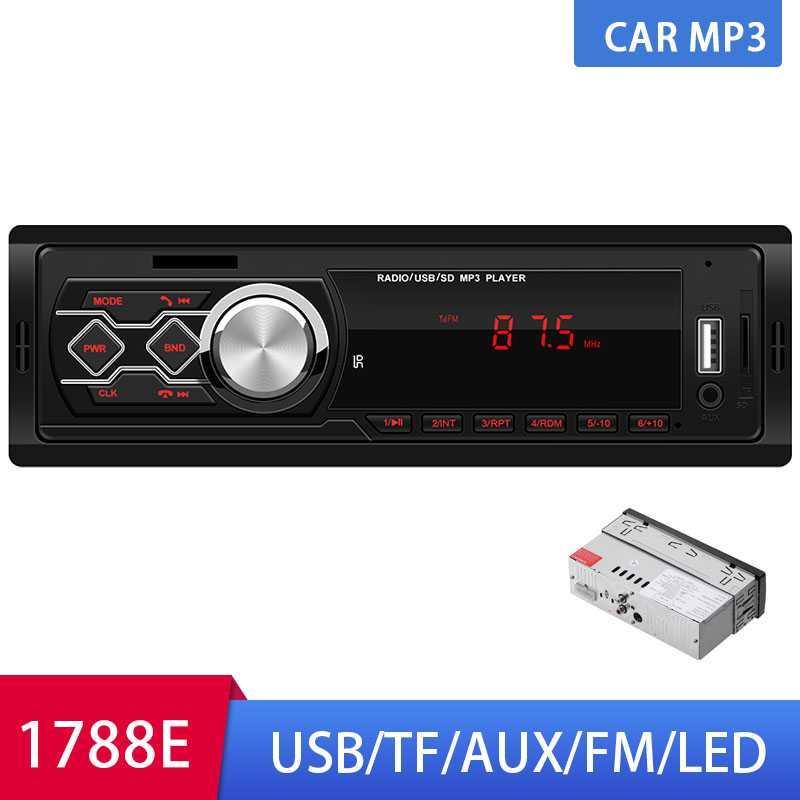 자동차 라디오 스테레오 LED MP3 서브 우퍼 1 딘 카 오디오 USB / SD / AUX / 미니 카드 네 채널 원격 제어 자동차 라디오