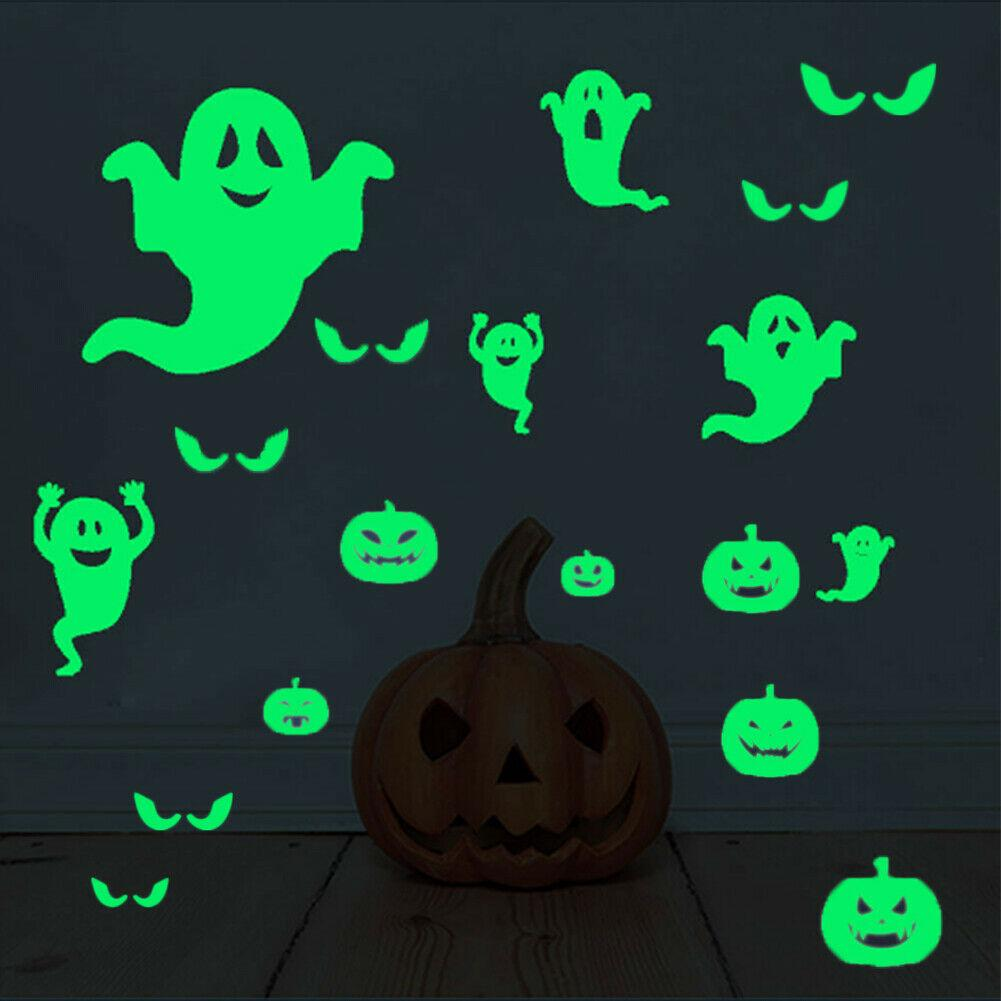 Halloween Eyes Wall Stickers Glow In The Dark Glass Decals Luminous Decor Tile Decal Stickers Tile Decals From Raoying8888 1 74 Dhgate Com