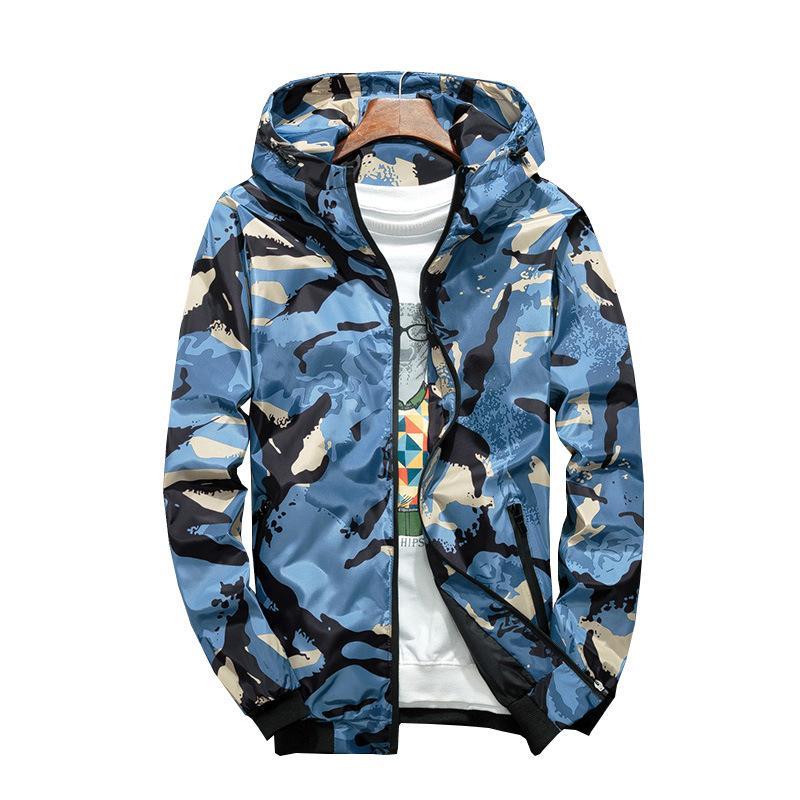 Куртка камуфляжная Студенческая спортивная куртка с капюшоном Мода для мужчин Куртка с капюшоном от солнца Защита Военная куртка Парка Уличная одежда