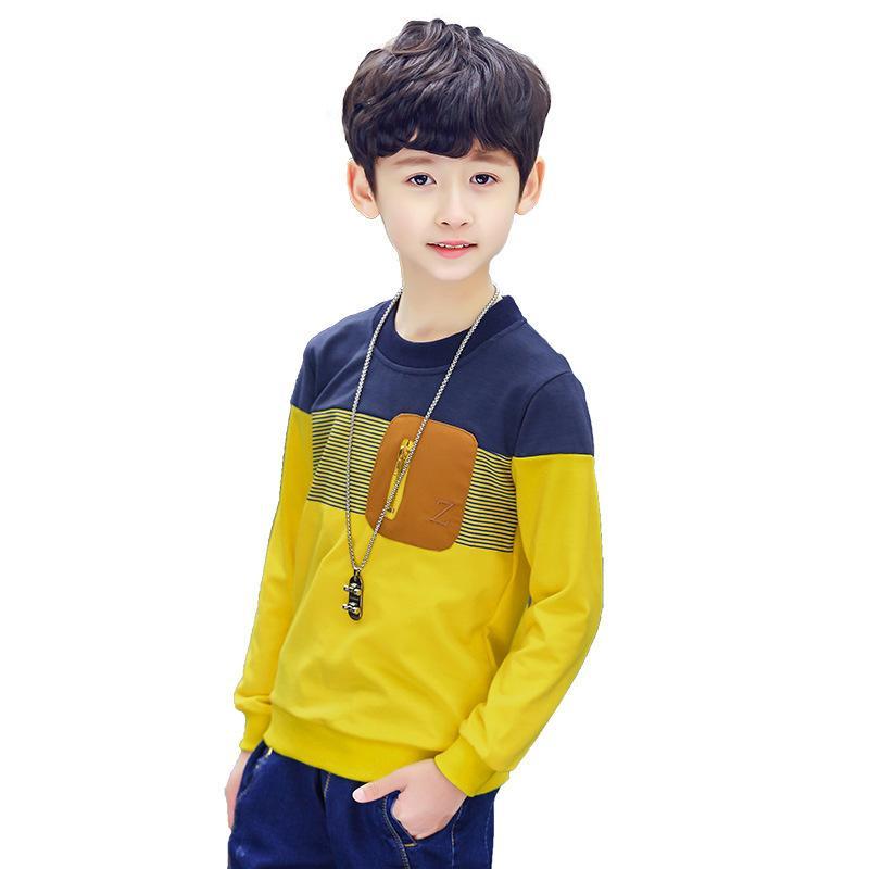Детская зимняя одежда для детей от 3 до 12 лет Футболка с длинным рукавом для мальчиков Подростковая школьная одежда 2019 года