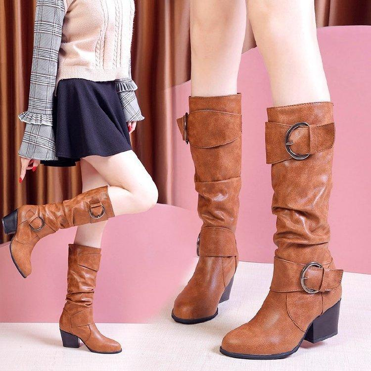 Boots High Heels Boots Women Lace
