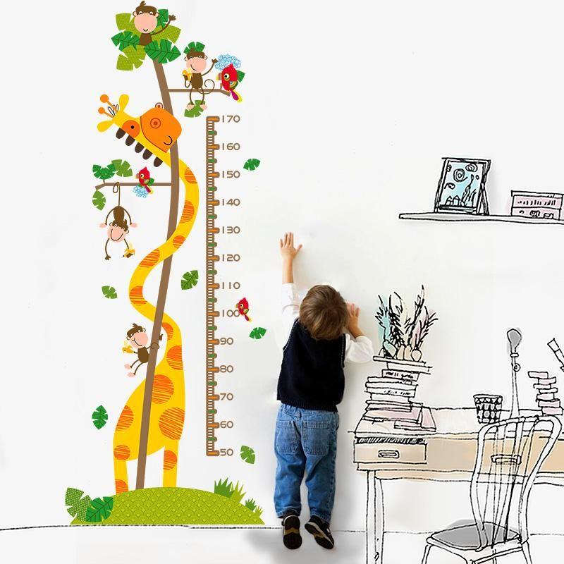 Acheter Fundecor Stickers Muraux Enfants Singe Girafe Hauteur Pour