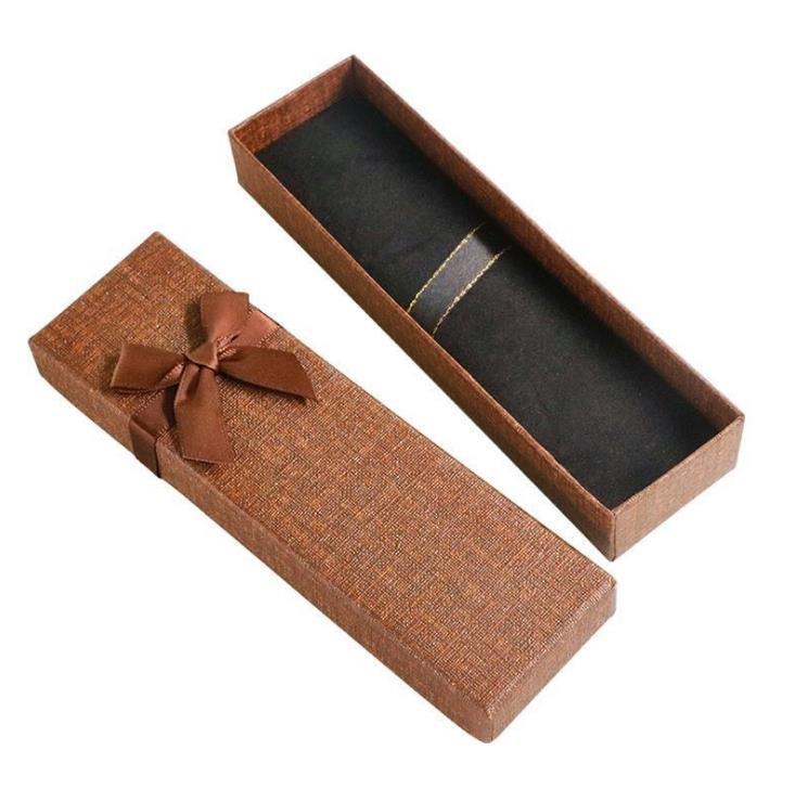 100pcs Creative bowknot décoration en cristal Publicité Stylo à bille Case Crayon Pen Emballage cadeau Boîte pour fille SN3170