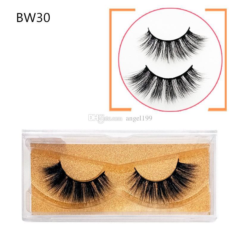 BW30 wholesale New 3D Mink Eyelashes Mink Lashes Thick Long Handmade False Eyelash Eye Makeup Eye Lashes