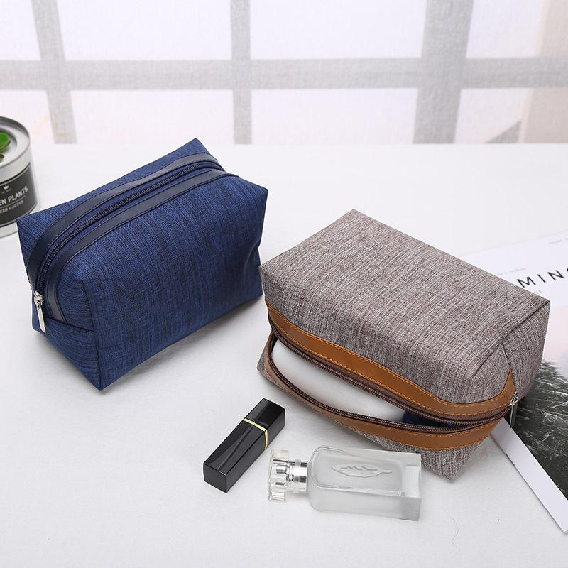 Portable Cosmetic Bag semplice quadrato compone il trasporto del permutano bagagli su misura di marchio Zipper Handbag Home Furnishing 18 * 9.5 * 11cm