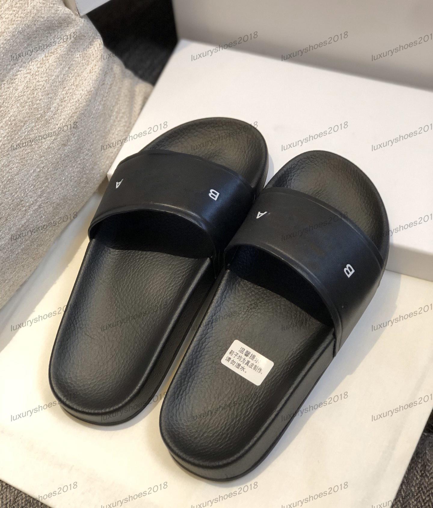 Top delle donne degli uomini dei sandali dei pistoni dei pattini della stampa Presentazione Summer Fashion ampio appartamento Beach Sandals Slipper Flip Flop