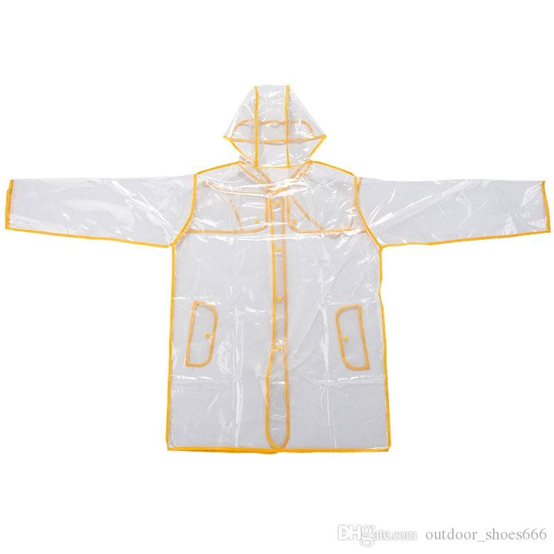 Women Lady Unisex Man Transparent Poncho Hoodie Waterproof Coat Jacket Windbreaker Raincoat Rainwear Black/Yellow/Red/Purple #179541
