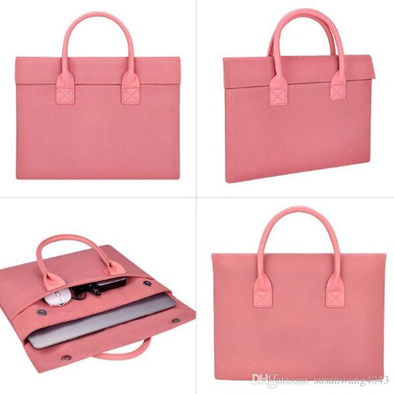 Luxury Handbag Shockproof waterproof notebook Briefcase for Macbook ipad air pro 13 14 15 inch laptop bag tablet protective cases DN011