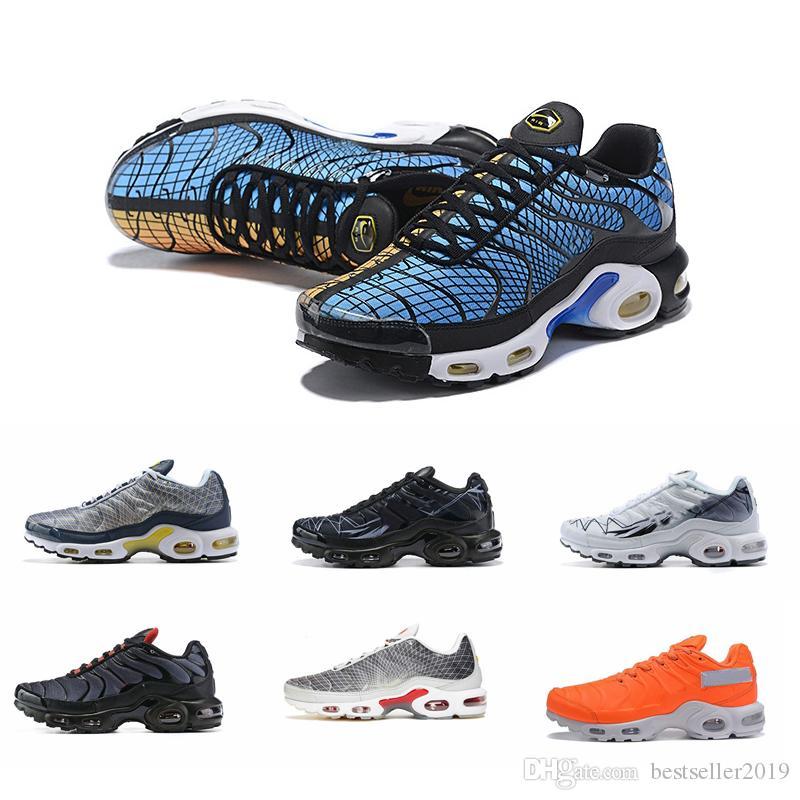 2019 Tn Plus Se Greedy Running Shoes Mens Trainers Mercuial Chaussures Tns Orange Blue Black Breathable Sneakers Zapatillas de Sports 40-46