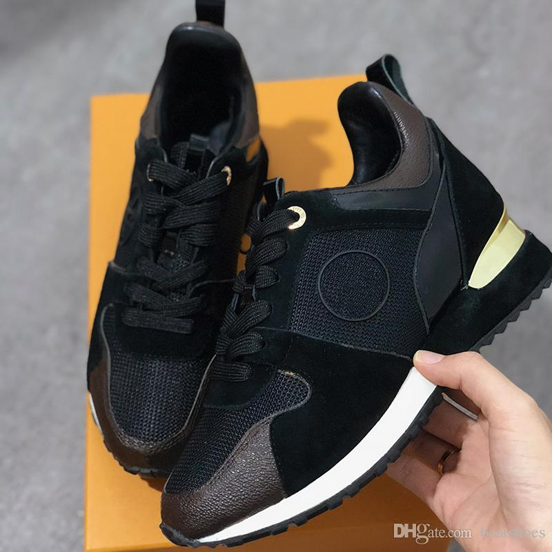 2019 NEW Luxury Genuine Leather RUN AWAY Designer Sneakers Women Shoes trainers Fashion Casual Shoes men Mixed Color Original Box SZ US 5-12