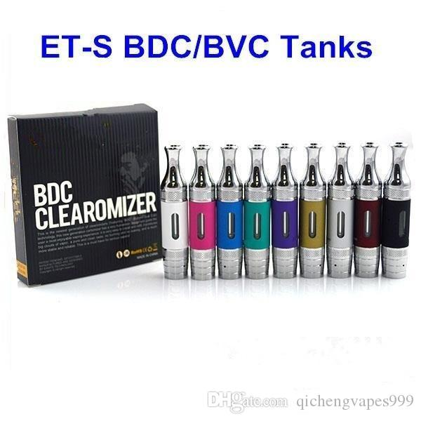 Retail ETS BDC BVC Atomizer with Replaceable Coils T3s Tank Clearomizer for Vision 2 Evod Twist II Battery Vape Pen Mod Vaporizer Kit