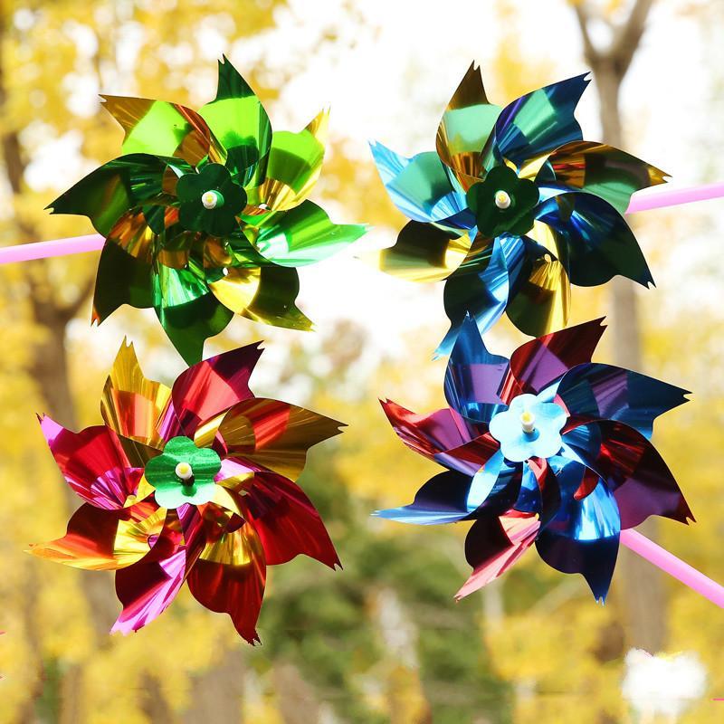 Presente Toy 10pcs Crianças Pequenas Jardim Moinho decoração colorida DIY Kindergarten Handmade Classe Vento Spinner ao ar livre para crianças