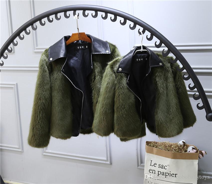 0-7T Çocuk kürk Kaban Ceket İmitasyon tilki Yapay Kürk Çim Yüksek Kalite Peluş deri Sahte Kış kız bebek giysileri B287