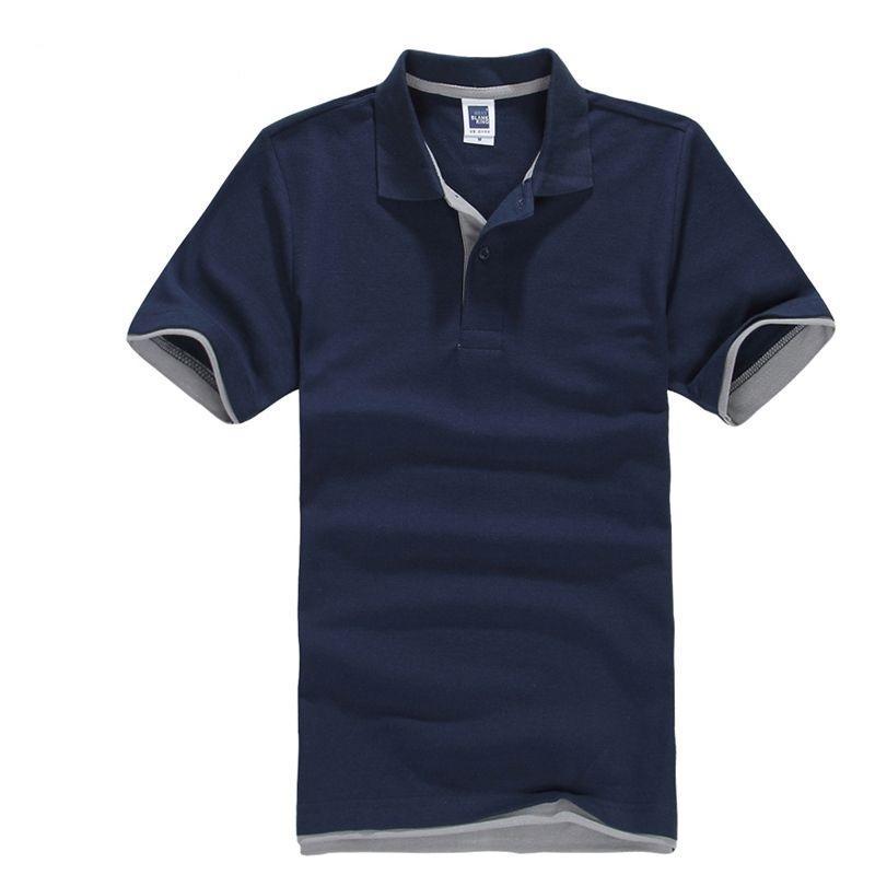Marke Polo-Hemd Männer 2020 Sommer-beiläufige Baumwolle Kurzarmhemd Breath Camisa Polo Para Hombre Trikots Golftennis Hemd