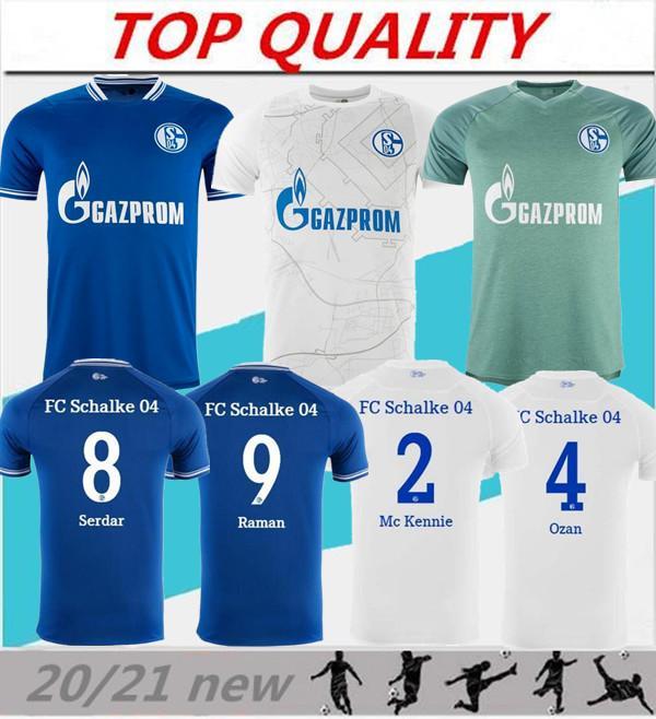 2020 قمصان 2021 شالكه 04 لكرة القدم المنزل بعيدا 20/21 camiseta دي فوتبول SERDAR OZAN حريث بن طالب رامان MC KENNIE قمصان كرة القدم