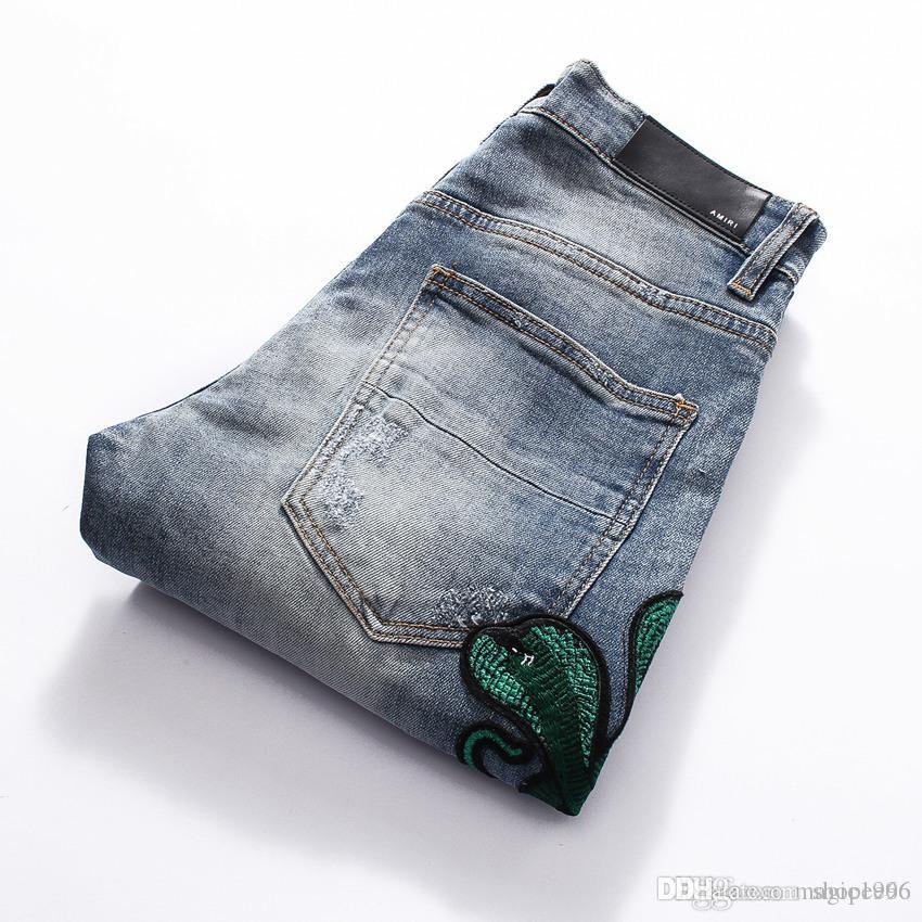 2020 Hip Designer Hot Buraco Jeans Moda Personalidade Jeans Buraco Jeans Qualidade Cotton Tannin do Hole Homens Hop X9