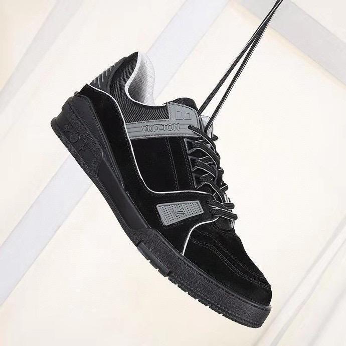 Louis Vuitton LV shoes 20 chaussures hommes nouveaux formateurs femmes trainer vitesse de l'air qualité supérieure de la mode baskets coureurs chaussures