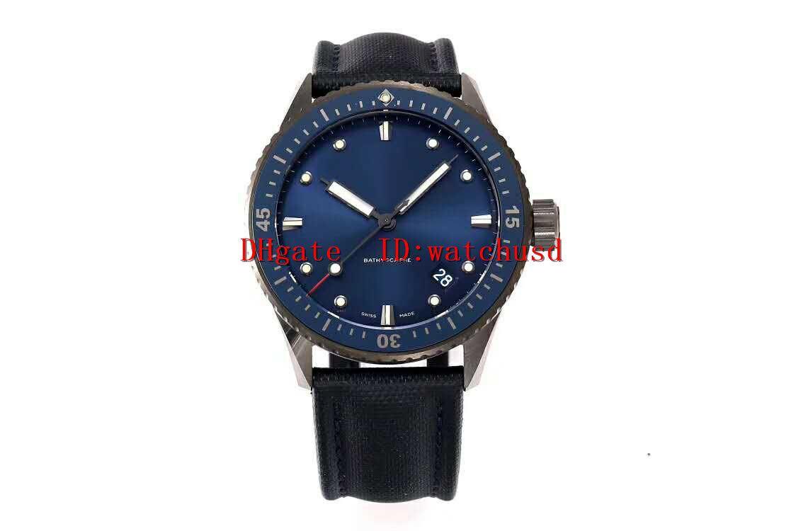 la moda ZF fábrica CINCUENTA FATHOMS para hombre Relojes de acero inoxidable reloj de negocios los relojes luminosos de cristal de zafiro Cal.1315 mecánico automático