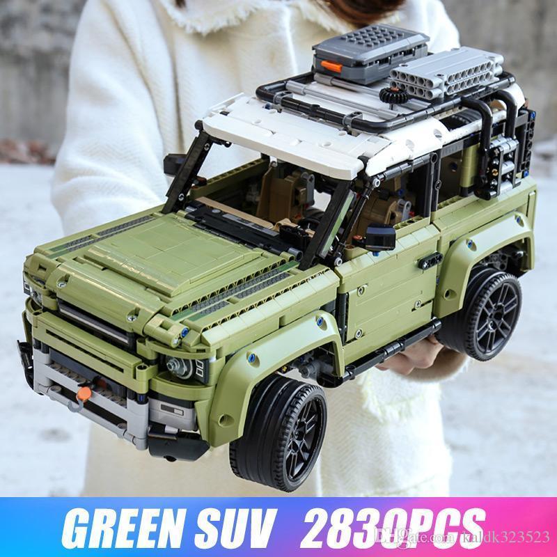 تكنيك السيارات لعبة متوافق Legoinglys 42110 لاند روفر ديفندر الجمعية مجموعة موديل السيارة بناء كتل الطوب هدايا عيد الميلاد لعبة